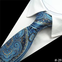 Wholesale High Neck 29 - 52 Styles 8cm Men Ties Silk Tie Men's Floral Neck Ties Handmade Wedding Party Paisley Necktie High Quality Business Ties Stripes Plaid #-29