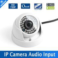 Wholesale Ip Camera Ir Lens Filter - 1 4'' CMOS Sensor Indoor 1.0MP 720P IR-Cut Filter Dome IP Camera IR 20M Night Vision 3.6mm Lens Security CCTV Camera With Audio