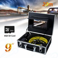 Wholesale Industrial Lcd Monitor - WP90B-20m Pipe Sewer Inspection Camera Waterproof IP68 20M Drain Industrial Endoscope Video Inspection System 9Inch LCD Monitor AT