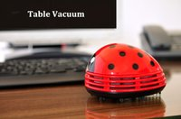 Wholesale Suction Dust Collector Cleaner - Mini Ladybug Desktop Coffee Table Vacuum Cleaner Dust Collector for Home Office