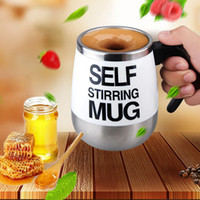 Wholesale Unique Couplings - Self Stirring Mug 401-500Ml Stainless Steel Couple Mugs Auto Mixing Cup For Tea Coffee Hot Chocolate Unique Glass Mix Order