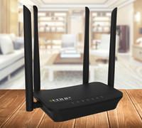 repetidor wifi universal al por mayor-Enrutador WiFi inalámbrico de 300Mbps EDUP Universal Firmware Wi-fi Repeater Booster, 2 puertos RJ45,802.11b / g / n, Configuración fácil