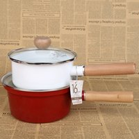 Wholesale Gas Wok - Cookware enamel soup Pans milk Seafood Soup Cooking Wok Picnic Cookware Dutch Ovens Soup Stock Pots gas grill pan skillet