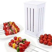 Fácil de usar 16 Skewers Grill Meat Skewer Machine Brochette Express BBQ Brochette Kebab Maker BBQ