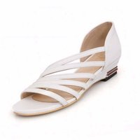 Wholesale Roman Wedge Sandals Fashion - Roman Low Wedge Heel Casual Dress Summer Shoes Sandals for Women Fashion Shoes Big Size Women's Sandals