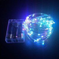 Wholesale AAA Battery Power Operated LED Copper Silver Wire Fairy Lights String Leds M Christmas Xmas Home Party Decoration Seed Lamp Outdoor