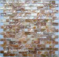 Wholesale Pearl Shell Tiles - 100% Chinese freshwater shell mother of pearl mosaic tile for interior house decoration wall tiles brick style 15x30mm