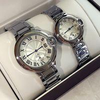 Wholesale bracelet sales - 2017 Hot Sale Fashion lady watches man women wristwatch silver Stainlesa Steel Bracelet Wristwatches Brand female male clock free ship