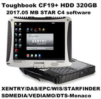 Wholesale Epc Laptops - 2017 05 Top-rated Toughbook Panasonic CF 19 CF19 CF-19 laptop with DTS Monaco8+Vediamo+Xentry+DAS+EPC installed in HDD for MB Star C4