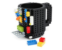 Wholesale Creative build on Building Blocks brick Coffee tea beer Mug DIY Drink Mugs compatible bricks cup wn077