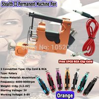 Wholesale Stealth Rotary Tattoo Machines Kits - Wholesale-Hot Aluminum Stealth Rotary Tattoo Machine Gun Liner Shader for Tattoo Gun Kits Supply Orange Free Shipping