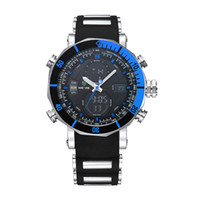 Wholesale Multifunctional Digital Watch - 2017 Fashion Watch Men Sports Series Multifunctional Analog Digital Alarm Stopwatch Casual Clock Quartz Watches WEIDE Relogio Masculino Gift