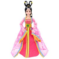 Wholesale 12 Figure Clothes - Wholesale- 12 Moveable Joints Doll Toys Female Action Figure Body Dolls With Clothes&Jewelry Chinese Type Princess Doll Gifts Toy For Girls
