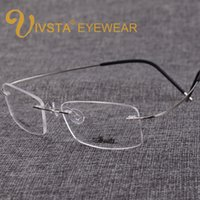 Wholesale Titanium Rimless Spectacle Frames - IVSTA 2017 Silhouette Titanium Eyeglasses Frames Super Light B-Memory Rimless Glasses Women Myopia Spectacle Frame e1050