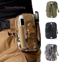 Wholesale phone pouch cloth online – custom Multi function Tactical Waist Bag Encrypt Oxford cloth D waterproof Wallet Pouch Phone Case Outdoor Camping Hiking Bag