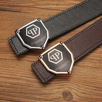 Wholesale Q Man - 2017Hot P Belt Mens womens high Quality Genuine Leather black and white color Designer Cowhide Q Belt For Mens womens Luxury Belt