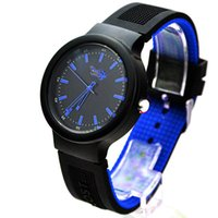 Wholesale Plastic Crocodiles - 5 colors mixed colors quartz watches fashion unisex silicone watches free shipping alligator crocodile watches without box clock