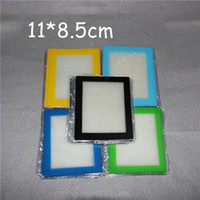 Wholesale Bar Sheet - Silicone Mats Wax Non-Stick Pads Silicon Dry Herb Mats 11*8.5cm Food Grade Baking Mat Dabber Sheets Jars Dab Pad Green Blue Yellow