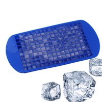 Wholesale Silicone Ice Cube Maker - 160Grids Small Ice Cream Mold Cube Mold Square Shape Silicone Ice Tray Fruit Ice Cube Maker Bar Kitchen Cooking Tool Accessories