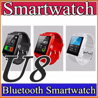 Wholesale Cheap Android Phones Free Shipping - 40X DHL free shipping 2016 Factory wholesale cheap U8 smartwatch DZ09 GT08 A1 Bluetooth Smart Wrist for Android Samsung Watch Phone A-BS