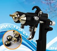 Wholesale Double Nozzle - HVLP newest type Double Nozzle Spray Gun,Pressure Feed Spray Gun, Nano Chrome Paint Sprayer , Dual Head Pneumatic Sprayer