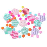 Wholesale Sewing Buttons Crown - Kimter Crown Striped Acrylic Buttons With 2 Holes 2.3x2.7cm Mixed For DIY Sewing Craft Classical Scrapbooking Sewing Pack Of 10pcs I407L