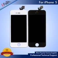 Atacado-Para iPhone 5 5G Display LCD com digitizador de tela de toque Full Asssembled Free DHL Shipping