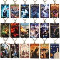 Wholesale Harry Potter Necklace For Men - 30pcs lot 2017 New Charm Necklaces Men's Necklace Harry Potter book series necklace Hip Hop Jewelry for Men Women DIY Jewelry Decorations