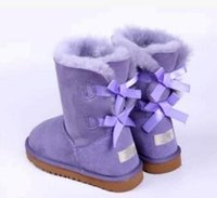 botas de nieve para mujer arcos al por mayor-Botas de nieve 2017 de la promoción de la Navidad de las mujeres botas BAILEY BOW 201 NUEVAS botas de la nieve 3280 para las mujeres