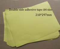 Wholesale Single Side Folder - Wholesale- 2016 40 Sheets  lot Double Side Tape A4 Size Strong Adhesive Good For Hardcover,Photo Albums,Brochures,Menu,Folder,etc