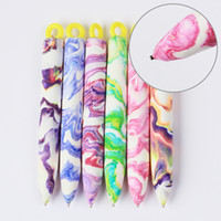 Wholesale Colourful Art - Wholesale-1 Pc Nail Art Tool Magnet Pen for DIY Magic 3D Magnetic Polish UV Gel Polish Cats Eyes Colourful Nail Art Pen