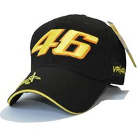 Vente en gros - 2017 Nouvelle conception F1 Racing Cap Car Motocycle Racing MOTO GP VR 46 Rossi Broderie Sport Hiphop Cotton Trucker Baseball Cap Hat