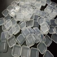 Wholesale Small Medicine Storage - Plastic Box Small Square Medicine Pill Box Portable Jwelry Cosmetic Clear Transparent Boxes Earplugs Storage Mini Boxes With Cover