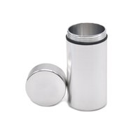 Wholesale Wholesale Rubber Logo - Colorful Water airProof Can with logo Rubber Air Tight Silver RAW Aluminum Airtight Cylinder Stash Case Tobacco Herb Storage Bottles Box