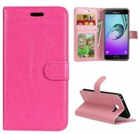 Wholesale crazy cell phone cases online – custom Crazy Horse Wallet Leather Case For Samsung Galaxy A310 A710 J2 Prime LG X Max Style X5 V20 MOTO E3 Z Play Stand Flip Cell Phone Cover