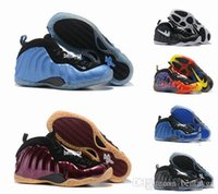 Wholesale Cheap Basketball Ball Shoes - 2017 new version Hot Cheap Men Air Penny Hardaway Galaxy One 1 Men Foams Running Shoes Olympic Basket Ball Cheap Basketball Shoes Sneakers