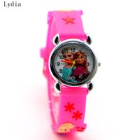 Wholesale Anna Limited - Wholesale- Relojes Mujer Infantil Reloj Snow Queen Princess elsa anna Cartoon Watch 3D Children Kids Quartz Wristwatches Clock