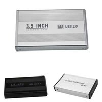 3,5 inç hdd sata toptan satış-Toptan-Yeni 3.5 inç USB 2.0 SATA Harici HDD HD Sabit Disk Muhafaza Kutusu Kutusu QJY99
