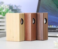 Wholesale Mini Audio Amplifier Speaker - New Creative Wood Induction Speaker Free Sound Amplifier Wooden Wireless Speaker Portable Stereo Speaker Wooden Magic Induction DHL