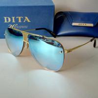 Wholesale Dita Glasses - 2016 luxury brand designer Dita DECADE-TWO man sunglasses with box fashion punk style metal frame women oval glasses 4 colors