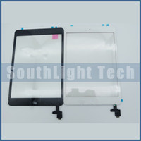 Wholesale Original New For iPad mini Touch Screen Glass Panel Digitizer Assembly With Home Button Original M Adhesive Sticker Camera Holder