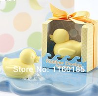 Wholesale Baby Decorative Soap - Wholesale-On Sale Free Shipping 10pcs Artistic Scented Little Cute Duck Soaps for Wedding Favor Gift Baby Shower Soap Decorative Hand Soap