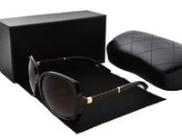 брендовые солнцезащитные очки оптовых-Высокое качество Новая мода старинные солнцезащитные очки женщин Марка дизайнер женские солнцезащитные очки женские солнцезащитные очки с чехлами и коробкой