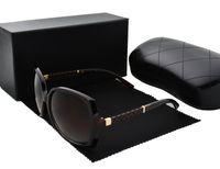 carcasa al por mayor-Alta calidad Nueva moda vintage gafas de sol mujeres Diseñador de la marca para mujer gafas de sol damas gafas de sol con estuches y caja