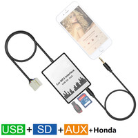 Wholesale Sd Audio Player For Car - Whosale Car MP3 Player SD USB CD AUX Input Audio Adapter Digital CD Changer for 2003-2011 Honda Accord Civic CRV Odyssey Element Pilot