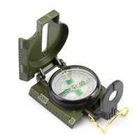 Wholesale Green Military Lensatic Compass - 20PCS Green Classic Military Style Marching Army Hiking Camping Outdoor Camping Lensatic Lens Compass Survival Marching Metal 0001
