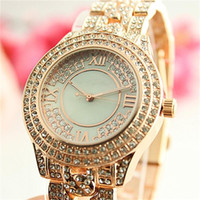 Wholesale Gold Rose Michael - Luxury Watches Women's Michael Watch Quartz Watches Rose Gold and Silver with Created Diamond Fashion Watch Wholesale Free Shippin