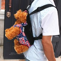Dog Front Chest Mochila Pet Bag Dog Cat Carrier Five Holes Mochila Dog Outdoor Carrier Tote Sling Holder Mesh Canvas Viagem ao ar livre