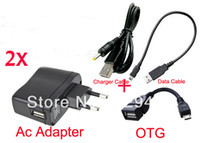 Wholesale Tablet Pc Pipo S3 - Wholesale- 2pcs EU Plug Wall Charger Power Adapter 5V 2A USB Port + Data Cable for Pipo S3 S3 M1 Q88 Cube U25GT U35GT U9GT3 U9GT4 Tablet PC