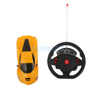 as pic as pic as pic Wholesale- Gravity Sensing Remote Control Car Racing Steering Wheel Toy Car 1:24